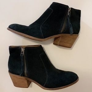 Madewell Janice Black Suede Ankle Boots
